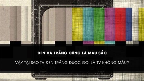 Đen và trắng cũng là màu sắc, vậy tại sao TV trắng đen được gọi là TV không màu?