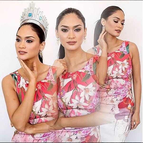 Pia trẻ trung, thu hút với dáng váy coktail kết hợp họa tiết hoa in màu rực rỡ.