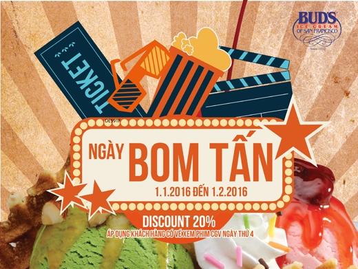 Áp dụng tại Bud's Ice CreamVincom Thủ Đức và Pearl Plaza cho các vé xem phim CGV Thủ Đức và Pearl.
