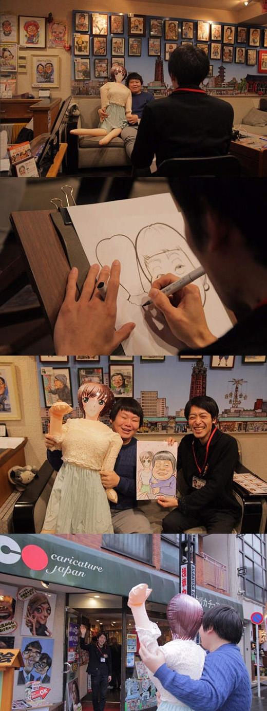 """""""Đây là cặp đôi lạ lùng nhất tôi từng vẽ trong năm 2015"""" là lời bình luận của chàng họa sĩ. (Ảnh: Twitter)"""