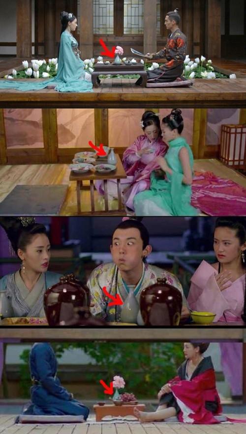 """Bình rượu xanh """"vô giá"""" được tận dụng trong mọi cảnh quay. Thậm chí trong những cảnh nhân vật nổi giận, diễn viên phải ném xuống hồ nước để bình khỏi bị bể"""