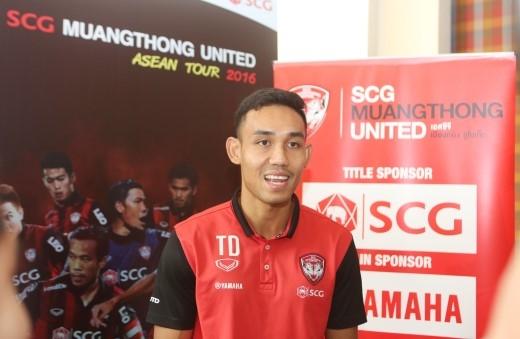 Teerasil Dangda – một trong những cầu thủ xuất sắc nhất đội tuyển quốc gia Thái Lan xác nhận sẽ tham gia trận đấu này.