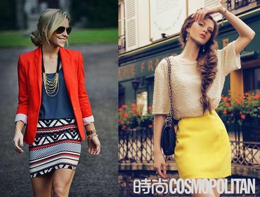 Những kiểu váy phù hợp với dáng người chữ O (Ảnh: Internet)