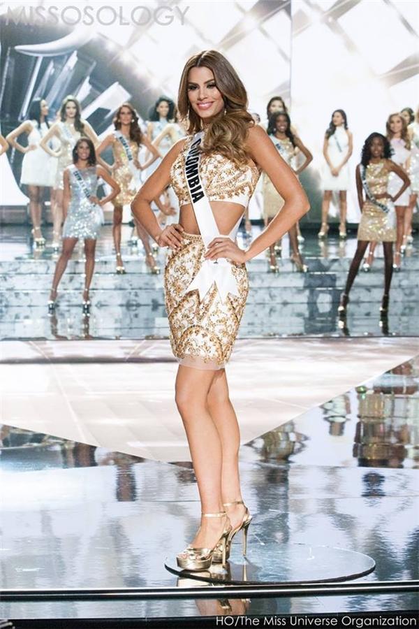 Gutierrez có sự thể hiện xuất sắc trên sân khấu Hoa hậu Hoàn vũ 2015.