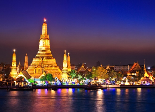 Đền chùa lộng lẫy tại thủ đô Thái Lan. Ảnh:Holidayssg.