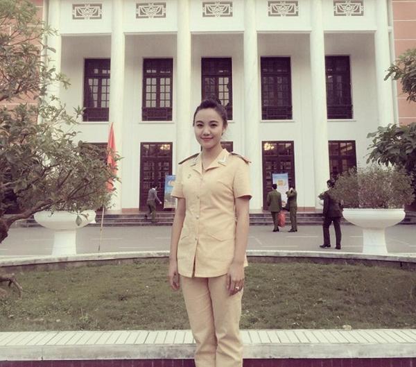 Cô cảnh sát tương lai Nguyễn VũNgọc Bích. (Ảnh: Internet)