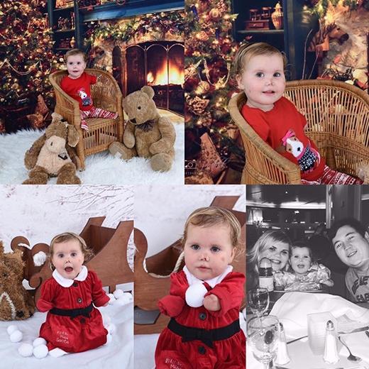 Cô bé trông rất rạng rỡ và hạnh phúc vào Giáng sinh năm vừa qua. (Ảnh: HopeForHarmonie)
