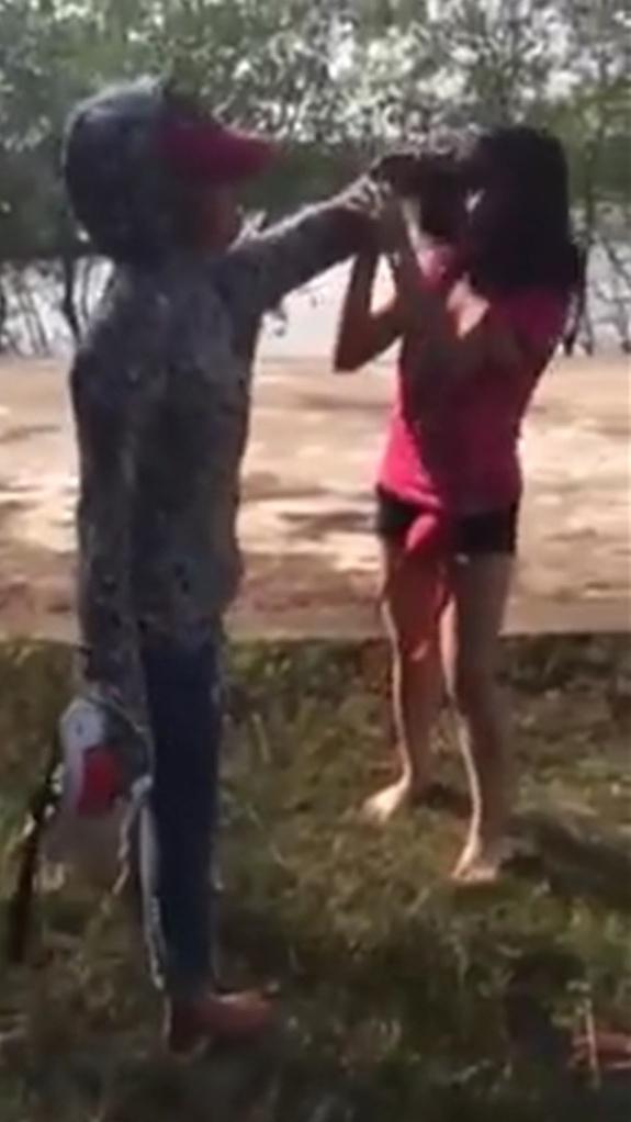 Một vụ nữ sinh đánh nhau tại Thanh Hóa. Ảnh: Internet