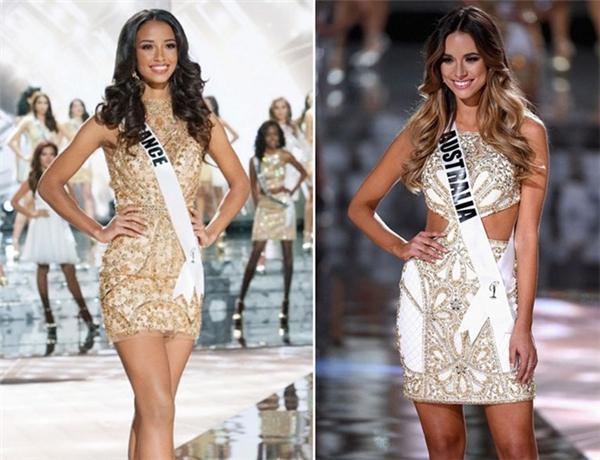 Hoa hậu Pháp và Australia đều nhận là á hậu hoàn vũ. Ảnh: Getty
