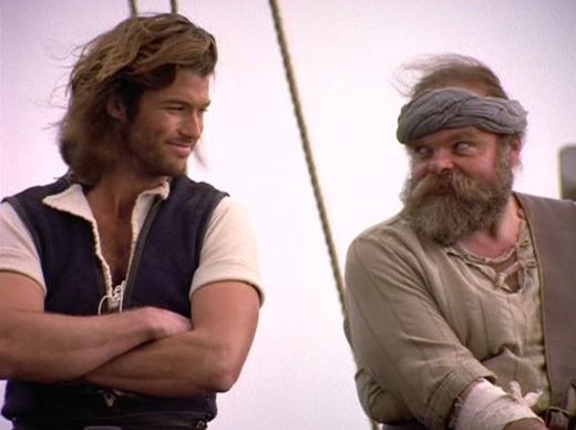 Thuyền trưởng Sinbad:Những cuộc phiêu lưu của thuyền trưởng Sinbad cùng thủy thủ đoàn là một bộ phim thú vị thời ấy, khiến khán giả say mê với nhiềucâu chuyện lấy ý tưởng từ Nghìn lẻ một đêm. Bộ phim này thỉnh thoảng vẫn được phát lại trên truyền hình. (Ảnh: Internet)