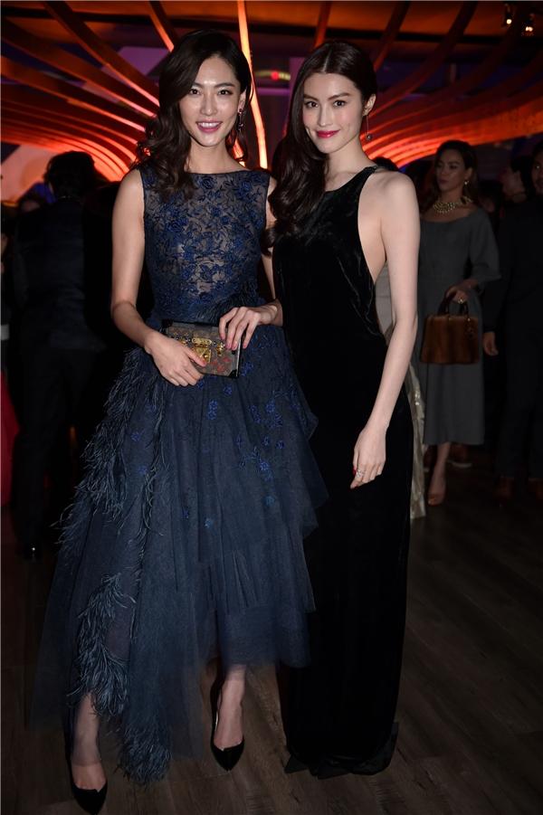 Siêu mẫu Bonnie Chen và cô bạn Hei Sue khoe nhan sắc rạng rỡ trong đêm tiệc. - Tin sao Viet - Tin tuc sao Viet - Scandal sao Viet - Tin tuc cua Sao - Tin cua Sao