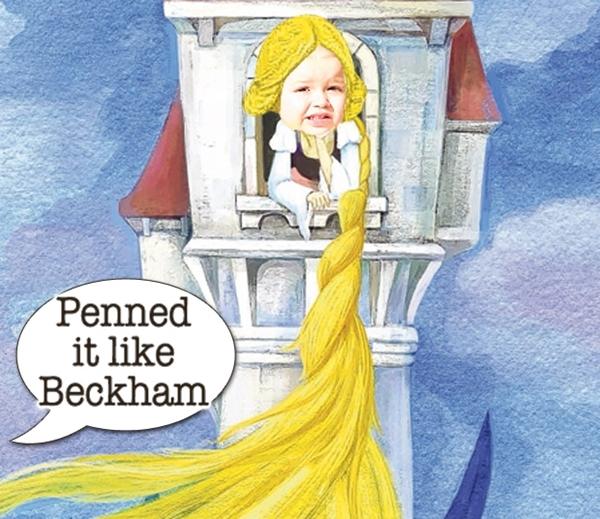 Có vẻ nhưBeckham chỉ muốn giữ Harper trong lâu đài như công chúaRapunzel.(Ảnh Internet)
