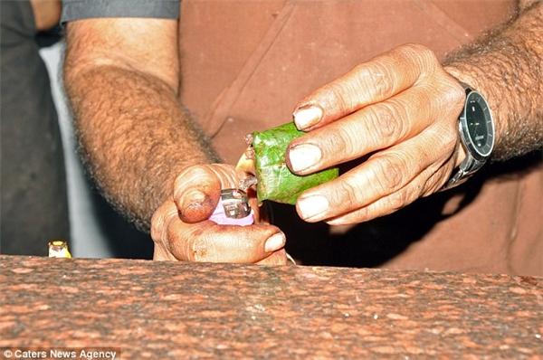 """""""Paan"""" là một loại hỗn hợp làm thơm miệng bao gồm các loại thảo mộc như đinh hương, cau và bạch đậu khấu gói trong lá trầu."""