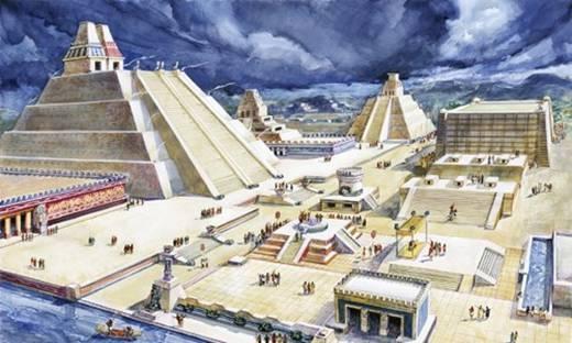 Thủ đô Tenochtitlan của đế chế Aztec được hình thành từ năm 1325. Thành phố này được đánh giá là một trong những thành phố lớn nhất và làthành phố đẹp nhấtcủa thế giới. Vào thời kỳ phát triển rực rỡ nhất, thành phố này có khoảng 300.000 người dân sinh sống (năm 1521).