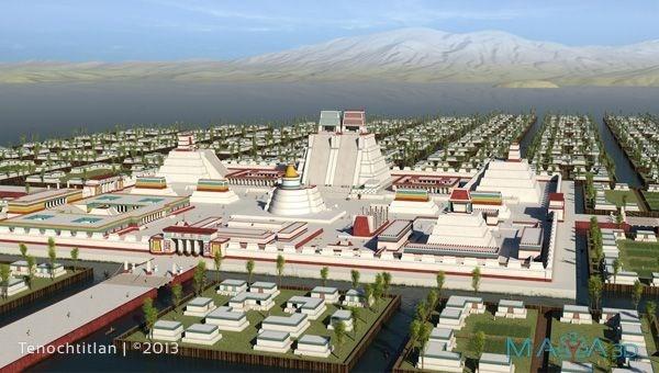 Trong trường hợp xảy ra chiến tranh, những cây cầu nối liền thành phố Tenochtitlan sẽ bị phá hủy để làm chậm sự di chuyển của quân địch.