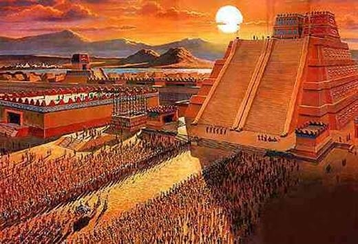 Rất nhiều ngôi đền, các công trình công cộng, lâu đài, vườn thực vật, hồ câu cá và thậm chí cả sở thú..được xây dựng ở thủ đô Tenochtitlan.