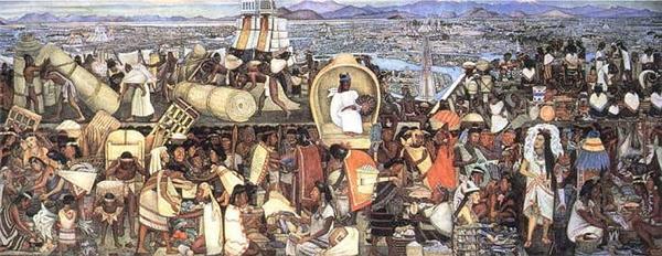 Theo miêu tả của thực dân Tây Ban Nha, các loài thú dữ ở vườn thú Moctezuma ở Tenochtitlan được nuôi bằng thịt người hiến tế, trong đó có thi thể của những kẻ bại trận. Đây là truyền thống hiến tế người ở Trung và Nam Mỹ.