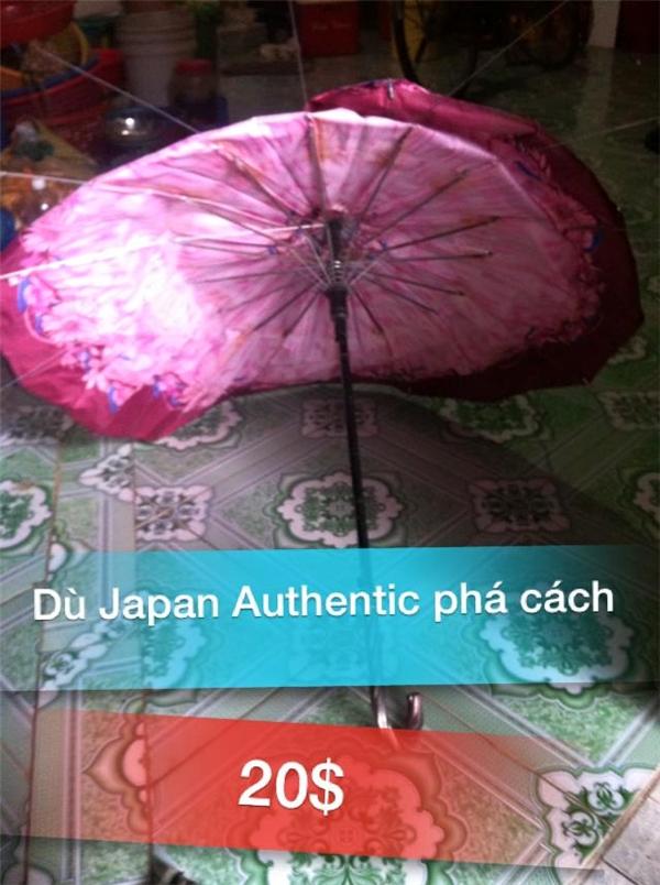 Một trong những sản phẩm sang chảnh nhất trong bộ sưu tập có giá20 USD (gần 420 ngàn đồng). Dù chính hãng Nhật Bản, kiểu dáng thời trang, phá cách, ấn tượng, có thể đi mưa đi nắng đều được các khách hàng thân yêu nhé! (Ảnh: Internet)