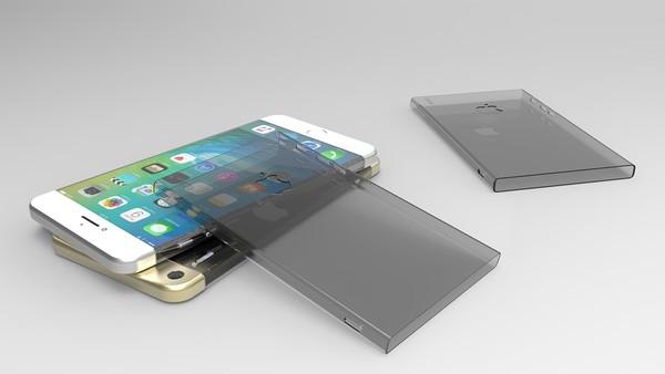 Thiết kế Iphone 7 này khá vuông vức và sang trọng. Cạnh máy được bố trí gạt tắt/mở âm thanh và nút thăng giảm dung lượng. Đèn flash được chuyển xuống dưới, tách rời khỏi cụm camera. (Ảnh: Internet)