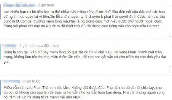 Và có nhiều giả thuyết đã được đưa ra, trong đó một bộ phận khán giả cho rằng vì Midu còn rất yêu Phan Thành nên đã xiêu lòng và chấp nhận tha thứ. - Tin sao Viet - Tin tuc sao Viet - Scandal sao Viet - Tin tuc cua Sao - Tin cua Sao