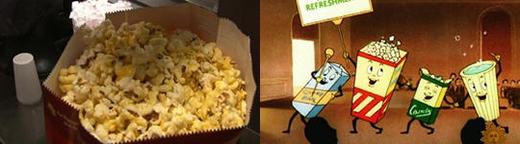 Các hãng phim vào thời kì đầu bán bắp rang đã rất đầu tư vào quảng cáo nhằm lôi kéo khán giả đến rạp. (Ảnh: Internet)