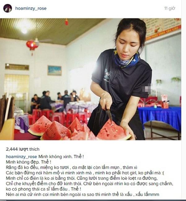 """Bài đăng """"lời thề"""" của Hòa Minzy. - Tin sao Viet - Tin tuc sao Viet - Scandal sao Viet - Tin tuc cua Sao - Tin cua Sao"""