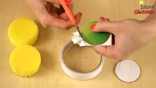 Bí kíp làm cuốn sổ tay mini hình bánh qui kem