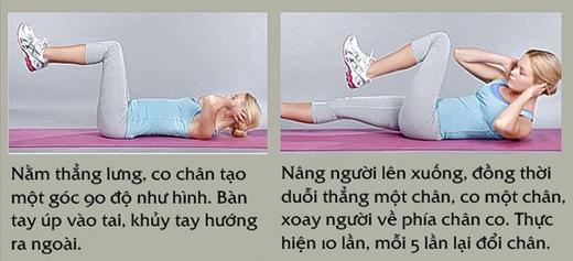 Bài tập giảm mỡ bụng dưới(Ảnh:Internet)