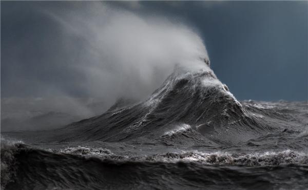 """""""Những con sóng trông như từ một chiếc máy giặt khổng lồ đến từ mọi phía vậy"""" – Sandford kể.(Ảnh: Dave Sandford)"""