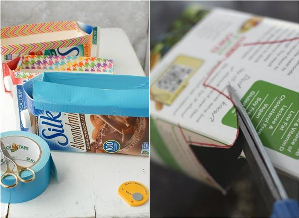 Làm sạch hộp sữa trước khi tái chế. (Ảnh: Internet)