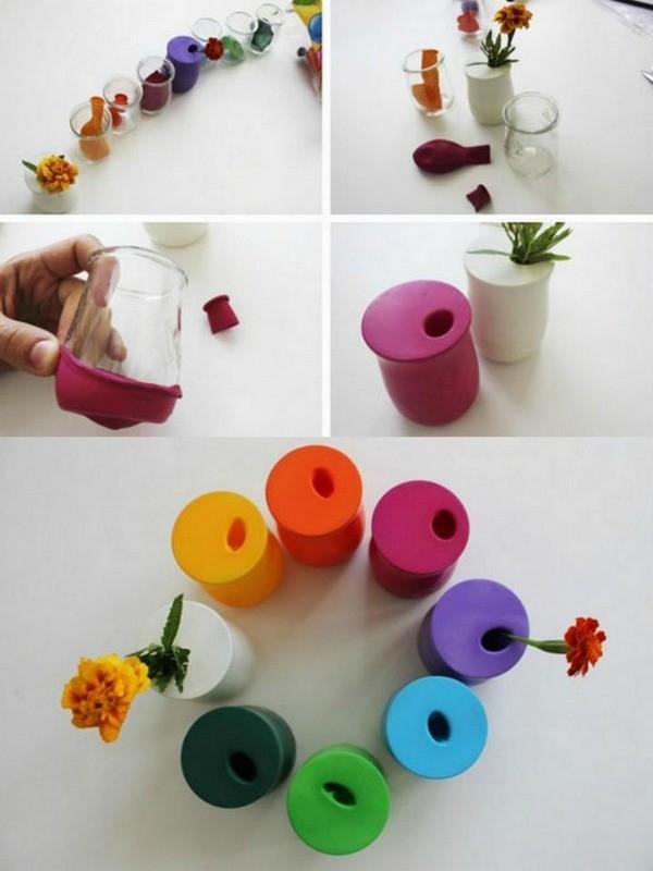Tái chế hủ sữa chua thành lọ đựng tăm, cắm hoa để bàn. (Ảnh: Internet)