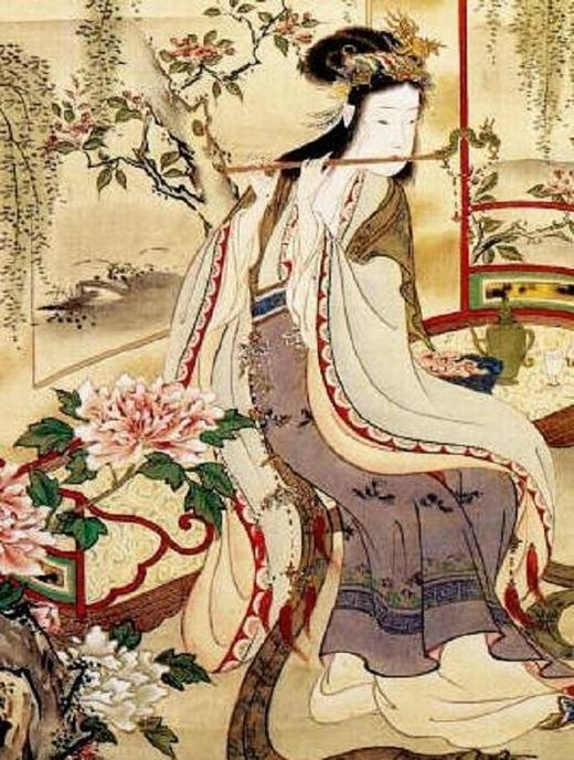  Chân dung Dương Quý Phi cho thấy nét đẹp thời Đường là phải béo tròn, mập mạp