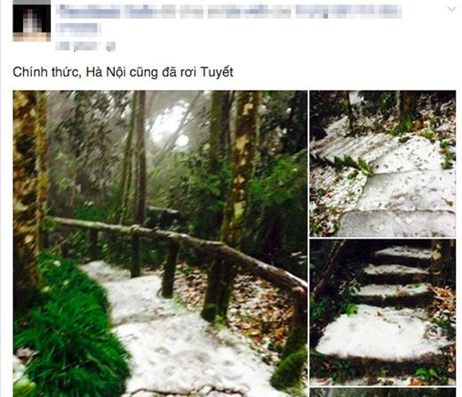 Hot: Lần đầu tiên có tuyết rơi ở Hà Nội