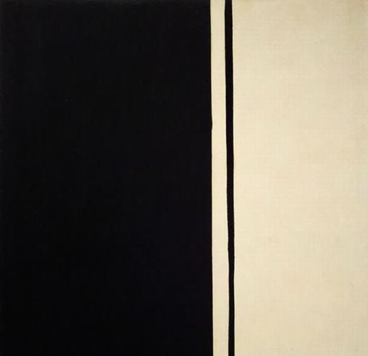 """Barnett Newman còn có nhiều bức tranh nổi tiếng và đắt giá khác, như """"Black Fire 1"""" với giá bán 84,2 triệu đô la(khoảng1.884 tỉ đồng)."""