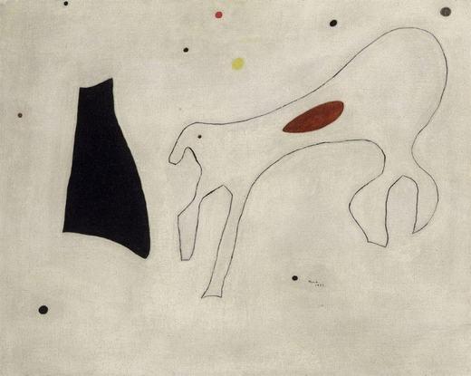 """Tác phẩm """"Peinture Le Chien"""" có giá lên tới 2,2 triệu USD(khoảnghơn 49tỉ đồng). Tác giả của nó là họa sĩ Joan Miró."""