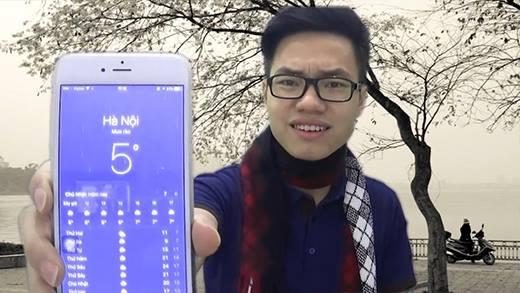 Thanh niên hát chế cập nhật tình hình thời tiết biến đổi miền Bắc