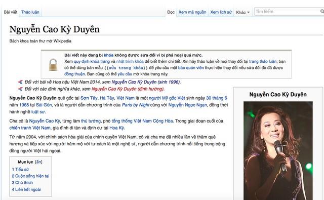 Wikipedia tiếng Việt thành bị nhiều người