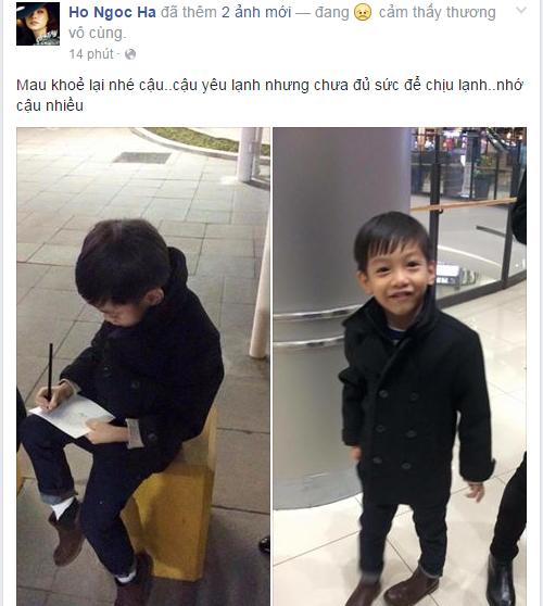 """Dòng trạng thái đầy tình cảm của Hồ Ngọc Hà dành cho Subeo. Cô âu yếm gọi con trai cưng là """"Cậu"""" khiến nhiều người xuýt xoa vì sự đáng yêu của cả hai mẹ con. - Tin sao Viet - Tin tuc sao Viet - Scandal sao Viet - Tin tuc cua Sao - Tin cua Sao"""