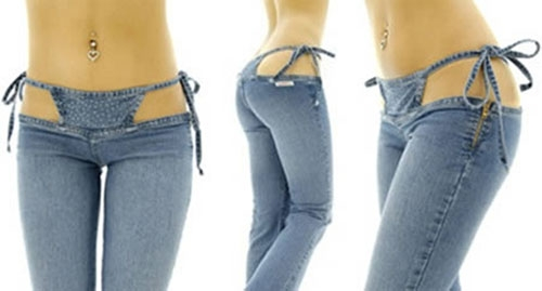Chiếc quần jeankini (bikini = jean) này không dành cho các cô nàng hay e thẹn