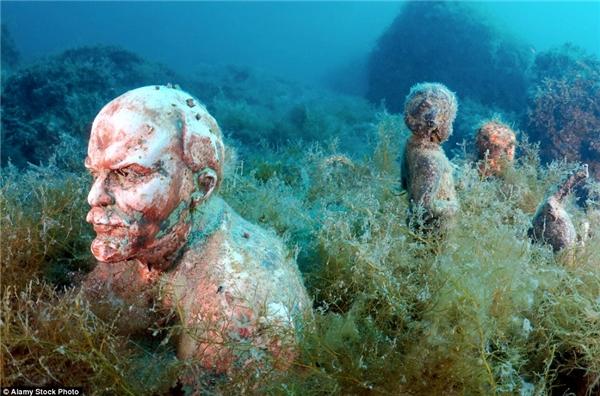 Đây là nơi tập trung nhiều bức tượng chân dung của những nhà lãnh đạo tài ba trên thế giới.(Ảnh: Daily Mail)