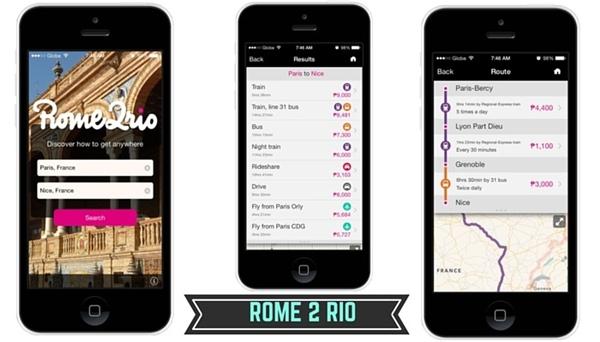 9. Sử dụng ứng dụng Rome 2 Rio. Ứng dụng này cung cấp cho bạn tất tần tật những phương tiện từ công cộng đến cá nhân ở bất cứ nơi đâu trên thế giới, từ đó bạn có thể lựa chọn phương tiện nào phù hợp và rẻ nhất.(Ảnh minh họa - Nguồn: Internet)
