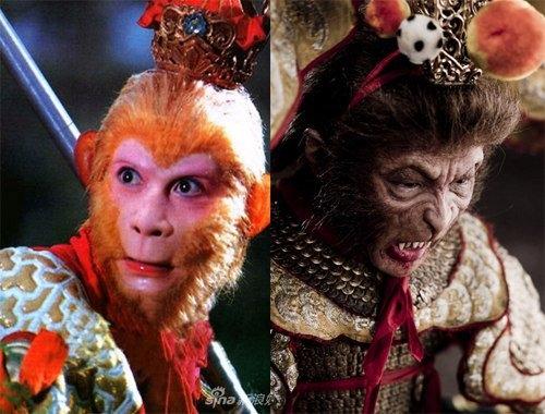 So sánh hai hình ảnh Tôn Ngộ Không cũ và mới.