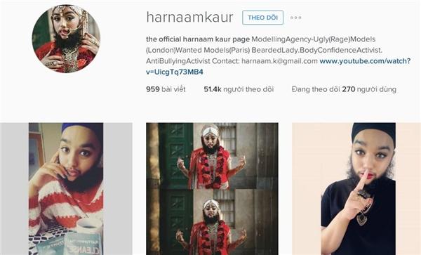 Trang Instagram của cô nàng thu hút tới hơn 51.000 người theo dõi.(Ảnh: Internet)