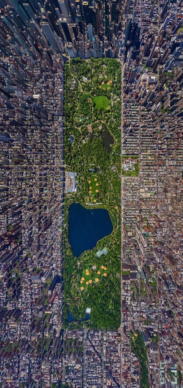 Mảng xanh giữa thành phố. (Ảnh: Sergey Semenov)