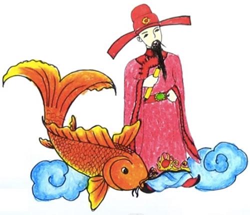 Ông Táo sẽ cưỡi cá chép về trời. (Ảnh: Internet)