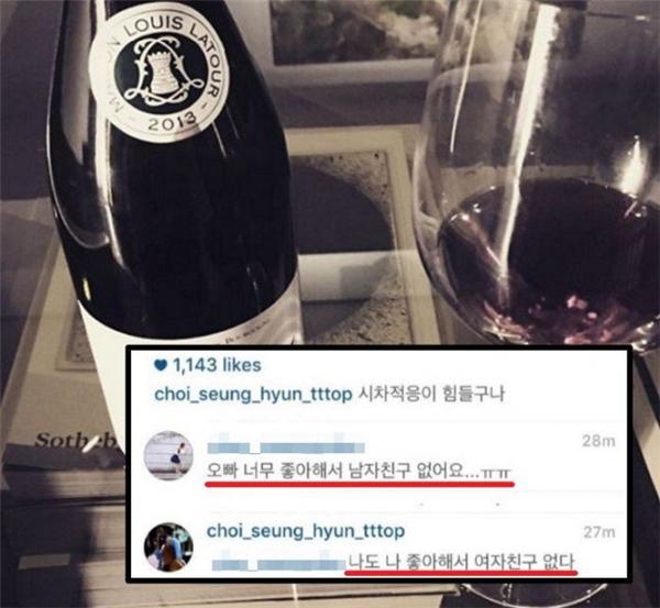 T.O.P bất ngờ tiết lộ lí do không thể có bạn gái