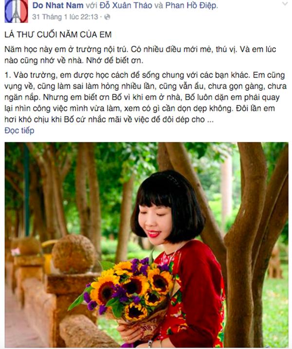 Lá thư Nhật Nam viết gửi bố mẹ khiến nhiều người xúc động. Ảnh: Internet