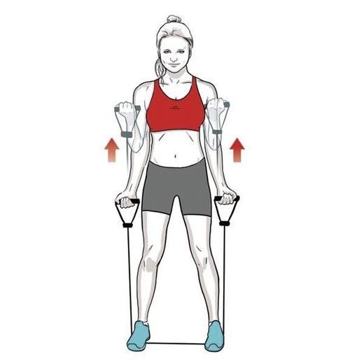 Việc kéo giãn cơ tay cũng góp phần cải thiện chiều dài cơ thể (Ảnh: Internet)