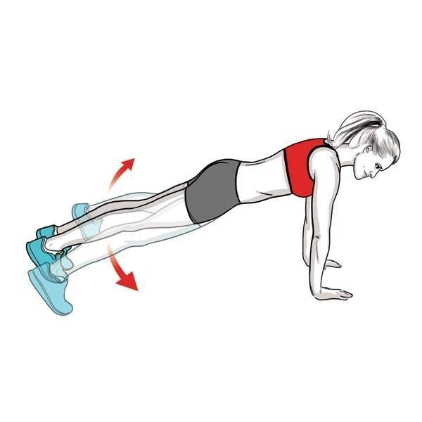 Bài tập hít đất giúp kéo giãn cột sống và tăng độ linh hoạt của các khớp xương. (Ảnh: Internet)