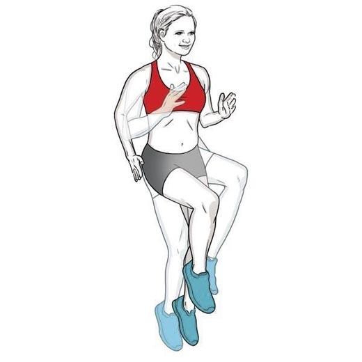 Bài tập nhảy nâng cao đầu gối là bài tập nhanh gọn giúp kích thích việc tạo ra hormon tăng trưởng (hormon HGH). (Ảnh: Internet)